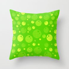 Bubblemagic - Lime Throw Pillow