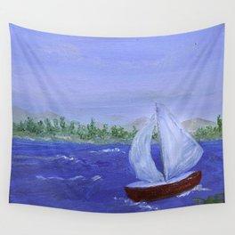 Sailboat Wall Tapestry