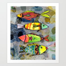 Tribal Fish Art Print