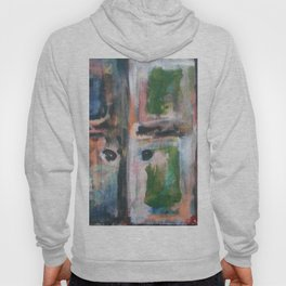 Door to heaven - colorful, gentle, rustic, acrylic, abstract art piece Hoody