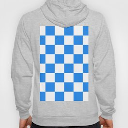 Large Checkered - White and Dodger Blue Hoody