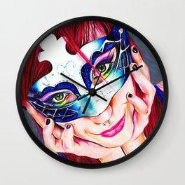 Masquerade Parade Wall Clock