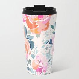 Floral Soft Pink Watercolor phone case Travel Mug