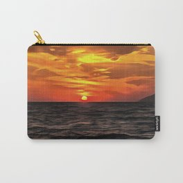 Sunset Over The Mediterranean Sea Carry-All Pouch