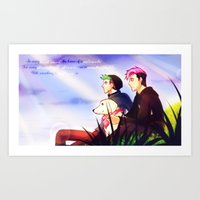 markiplier Art Prints featuring Markiplier and Jacksepticeye - Dreamers by Draw With Rydi