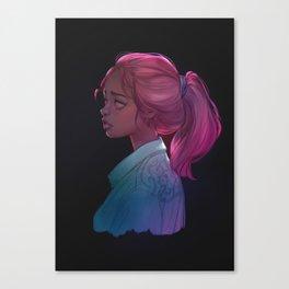 Jean jacket Canvas Print