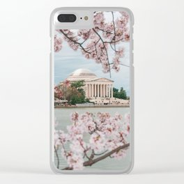 Spring Cherry Blossoms Clear iPhone Case