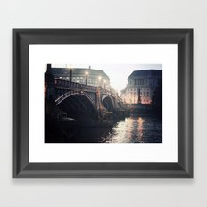 Evening Bridge Framed Art Print