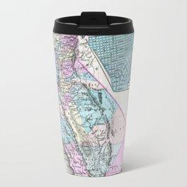 Map of California and San Francisco 1855 Travel Mug