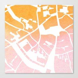 Vilnius map ombre Canvas Print