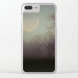 Moonlit Dreams Clear iPhone Case