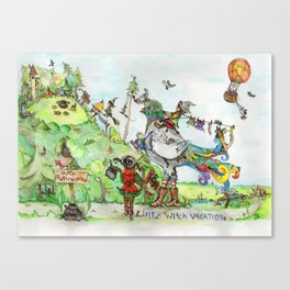 Little Witch Vacation Canvas Print