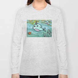 Cute narwhal Long Sleeve T-shirt