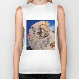 Astronaut in space, man. Biker Tank
