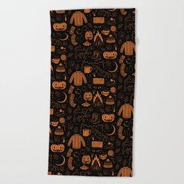 Autumn Nights: Halloween Beach Towel