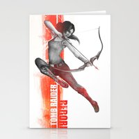 tomb raider Stationery Cards featuring Tomb Raider Reborn by Sublayer