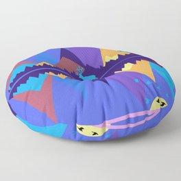 Mountain Scene #2 Floor Pillow
