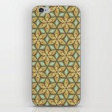 Flower pattern green/yellow iPhone & iPod Skin