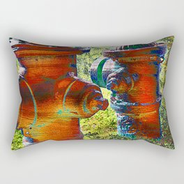 Fire hydrant art vs 3 Rectangular Pillow
