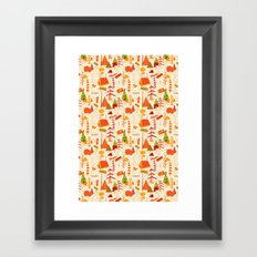woods pattern Framed Art Print