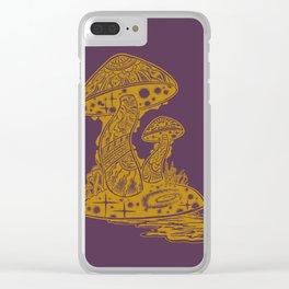SHROOM SWAMP - PURPLE Clear iPhone Case