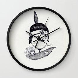 Apache Kid Wall Clock