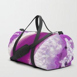 Purple Crystal Duffle Bag