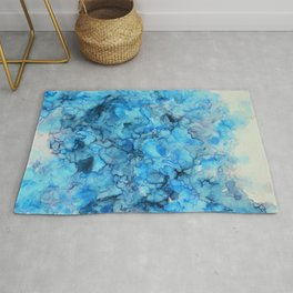 Polar- Alcohol Ink Painting Rug