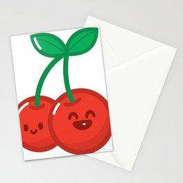 HyperKawaii happy cherry Stationery Cards
