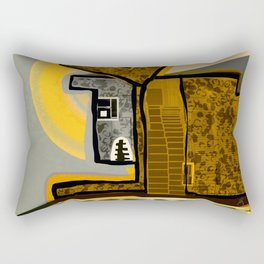 The Scream from Home Rectangular Pillow