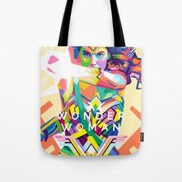 wonderwoman Pop art Tote Bag