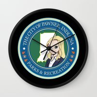 parks Wall Clocks featuring Parks & Rec. by BlackRose Designs