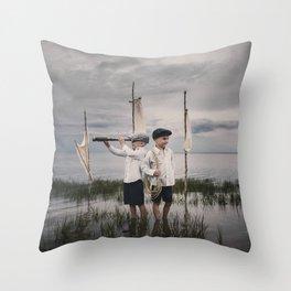 Aventure imaginaire Throw Pillow