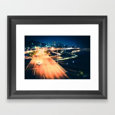 Han River Skyline Framed Art Print