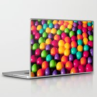 gumball Laptop & iPad Skins featuring Rainbow Candy: Gumballs by Whimsy Romance & Fun