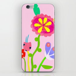 Paper Collage Blooms iPhone Skin