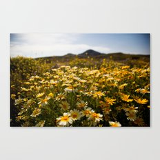 Flower dotted Delos Canvas Print