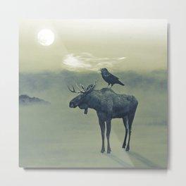 Spirit of the Raven Metal Print