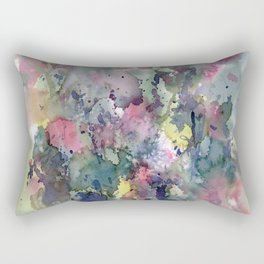 Impressionistic Watercolor of Sweet Peas Rectangular Pillow