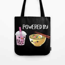Powered by Ramen and Boba-Tea Tote Bag