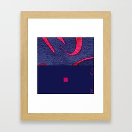 red&blue3 Framed Art Print