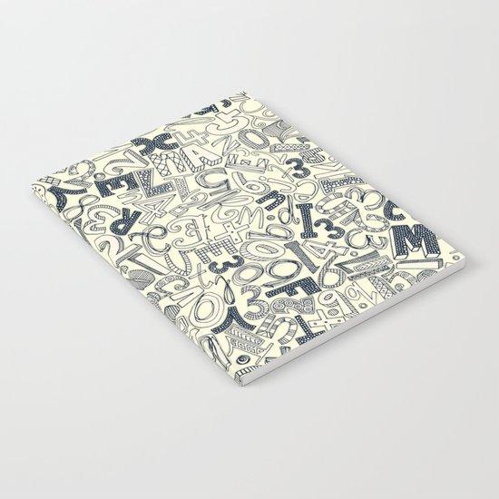 A1B2C3 indigo ivory Notebook