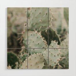 Cactus Closeup Wood Wall Art