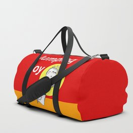 Jumping Boy with a Ball - Red Duffle Bag