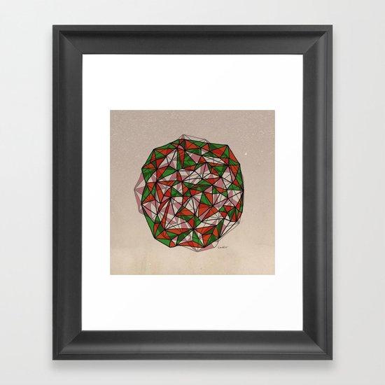 - red orange green - Framed Art Print