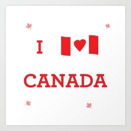 I heart Canada Art Print