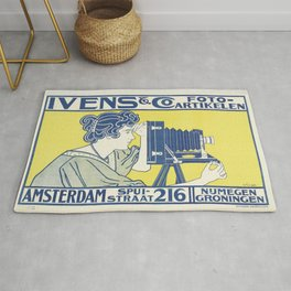 Ivens & Co Lithograph (Camera Advertisement) Rug