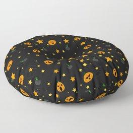 Spooky Pumpkin Floor Pillow