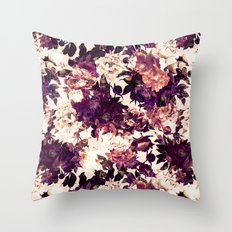 Watercolors Floral Pattern Throw Pillow