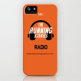 Runnings Stories Radio iPhone Case